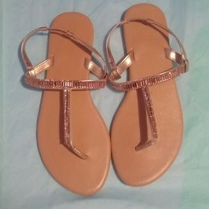 NWOT Mixit Gold Bling Sandals - Size 8